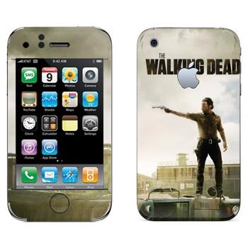 Виниловая наклейка «Ходячие мертвецы» на телефон Apple iPhone 3GS
