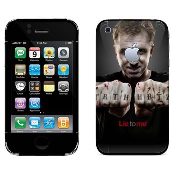 Виниловая наклейка «Кэл Лайтман - Обмани меня» на телефон Apple iPhone 3GS