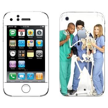 Виниловая наклейка «Клиника сериал» на телефон Apple iPhone 3GS