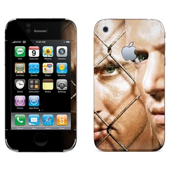 Виниловая наклейка «Майкл Скофилд и Линкольн Берроуз - Побег из тюрьмы» на телефон Apple iPhone 3GS