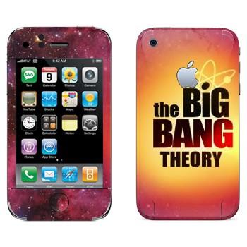 Виниловая наклейка «Теория большого взрыва» на телефон Apple iPhone 3GS