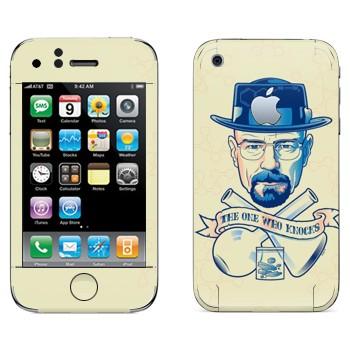Виниловая наклейка «Во все тяжкие - TOWK» на телефон Apple iPhone 3GS