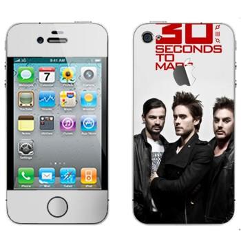 Виниловая наклейка «30 Seconds To Mars» на телефон Apple iPhone 4