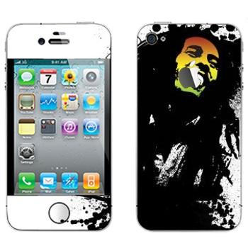 Виниловая наклейка «Боб Марли» на телефон Apple iPhone 4