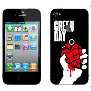 Виниловая наклейка «Группа Green Day» на телефон Apple iPhone 4