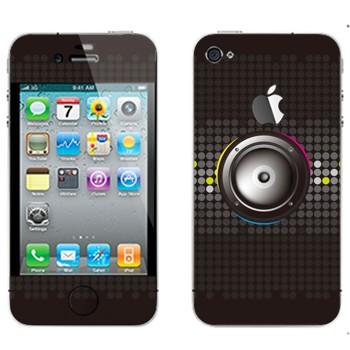 Виниловая наклейка «Серые динамики» на телефон Apple iPhone 4