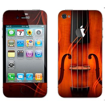 Виниловая наклейка «Скрипка» на телефон Apple iPhone 4