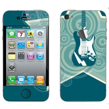 Виниловая наклейка «Звездная электрогитара» на телефон Apple iPhone 4