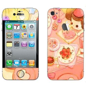 Виниловая наклейка «День рождения» на телефон Apple iPhone 4S