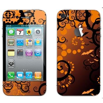 Виниловая наклейка «Хэллоуин тема» на телефон Apple iPhone 4S