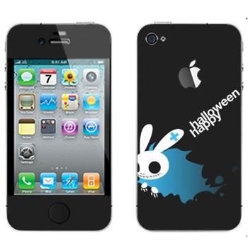 Виниловая наклейка «Хэллоуиновский кролик» на телефон Apple iPhone 4S