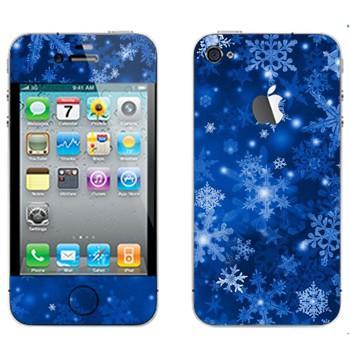 Виниловая наклейка «Снежинки - Новый Год» на телефон Apple iPhone 4S