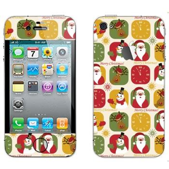 Виниловая наклейка «Веселого Рождества» на телефон Apple iPhone 4S