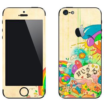 Виниловая наклейка «Mad Rainbow» на телефон Apple iPhone 5