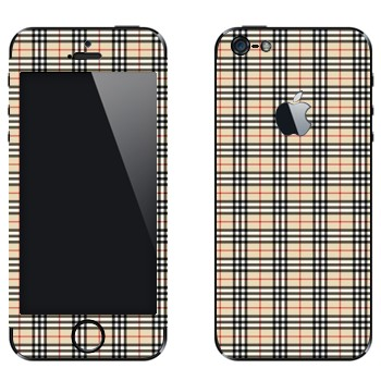 Виниловая наклейка «Барберри клетка» на телефон Apple iPhone 5