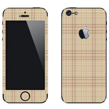 Виниловая наклейка «Бежевая клетка» на телефон Apple iPhone 5