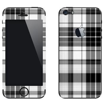 Виниловая наклейка «Черно-белая клеточка» на телефон Apple iPhone 5
