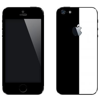 Виниловая наклейка «Черно-белые полосы» на телефон Apple iPhone 5