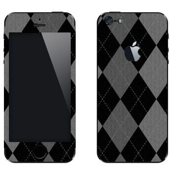 Виниловая наклейка «Черно-серые ромбы» на телефон Apple iPhone 5