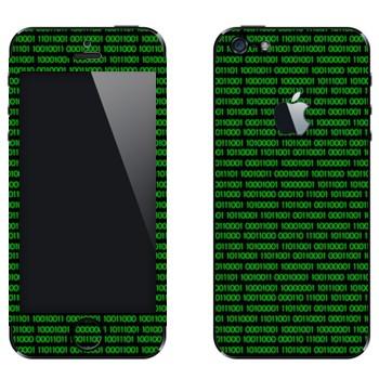Виниловая наклейка «Двоичный код» на телефон Apple iPhone 5
