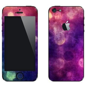Виниловая наклейка «Фиолетовая Gryngy текстура» на телефон Apple iPhone 5