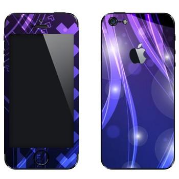 Виниловая наклейка «Фиолетово-синие цветные переливы» на телефон Apple iPhone 5