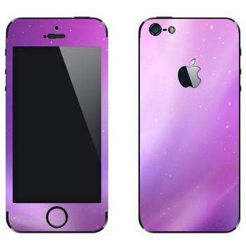 Виниловая наклейка «Фиолетовое сияние» на телефон Apple iPhone 5