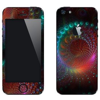 Виниловая наклейка «Фрактал космический» на телефон Apple iPhone 5