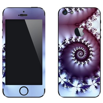 Виниловая наклейка «Фрактал-улитка» на телефон Apple iPhone 5