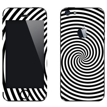 Виниловая наклейка «Гипнотизирующая спираль» на телефон Apple iPhone 5
