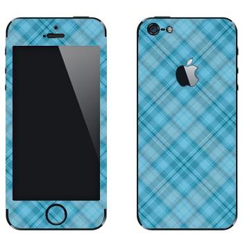 Виниловая наклейка «Голубая клетка» на телефон Apple iPhone 5