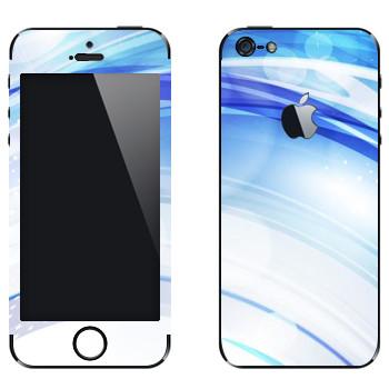 Виниловая наклейка «Голубые линзы» на телефон Apple iPhone 5