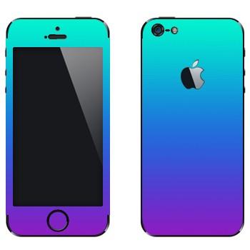 Виниловая наклейка «Градиент от голубого к фиолетовому» на телефон Apple iPhone 5