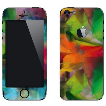 Виниловая наклейка «Игра цвета, трава, листья, лес» на телефон Apple iPhone 5