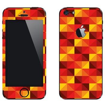 Виниловая наклейка «Желто-красные пирамидки» на телефон Apple iPhone 5
