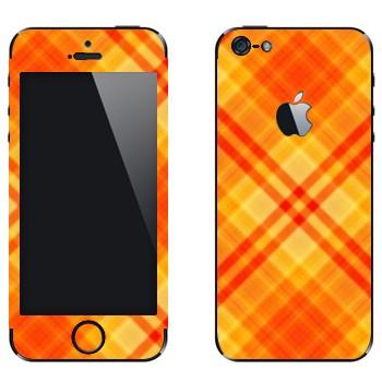 Виниловая наклейка «Желто-оранжевые полосы» на телефон Apple iPhone 5