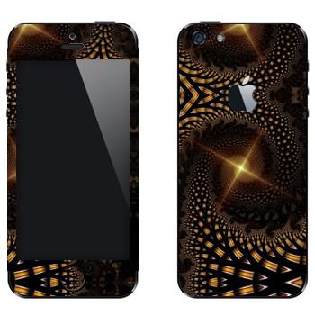 Виниловая наклейка «Калейдоскоп далекая звезда» на телефон Apple iPhone 5