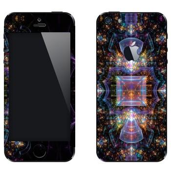 Виниловая наклейка «Калейдоскоп космический» на телефон Apple iPhone 5