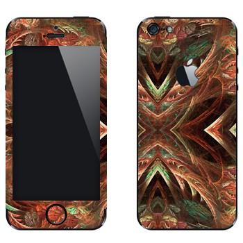 Виниловая наклейка «Калейдоскоп лес» на телефон Apple iPhone 5
