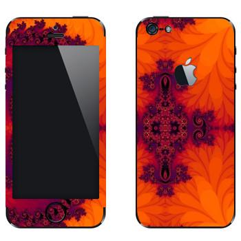 Виниловая наклейка «Калейдоскоп листья» на телефон Apple iPhone 5