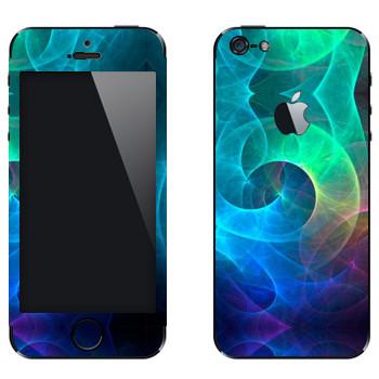 Виниловая наклейка «Калейдоскоп морские волны» на телефон Apple iPhone 5