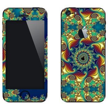 Виниловая наклейка «Калейдоскоп цветной» на телефон Apple iPhone 5