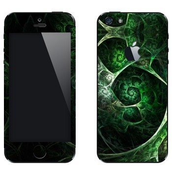 Виниловая наклейка «Калейдоскоп зеленая пещера» на телефон Apple iPhone 5