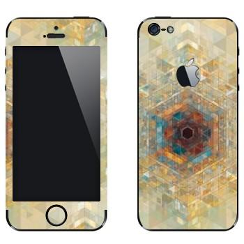 Виниловая наклейка «Калейдоскоп» на телефон Apple iPhone 5