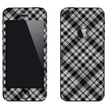 Виниловая наклейка «Клеточки черно-белые» на телефон Apple iPhone 5