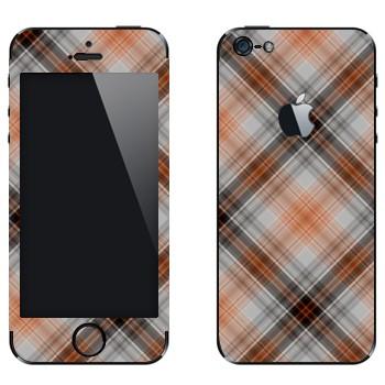 Виниловая наклейка «Клеточки коричневые» на телефон Apple iPhone 5