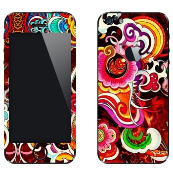 Виниловая наклейка «Красивый разноцветный узор» на телефон Apple iPhone 5