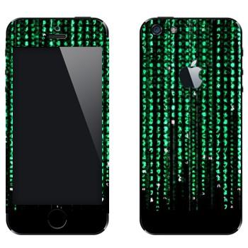 Виниловая наклейка «Матрица» на телефон Apple iPhone 5