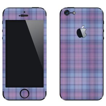 Виниловая наклейка «Мелкая фиолетовая клетка» на телефон Apple iPhone 5