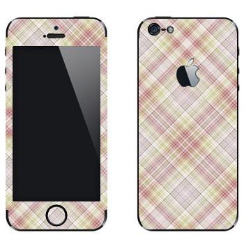 Виниловая наклейка «Наклонная светлая клетка» на телефон Apple iPhone 5